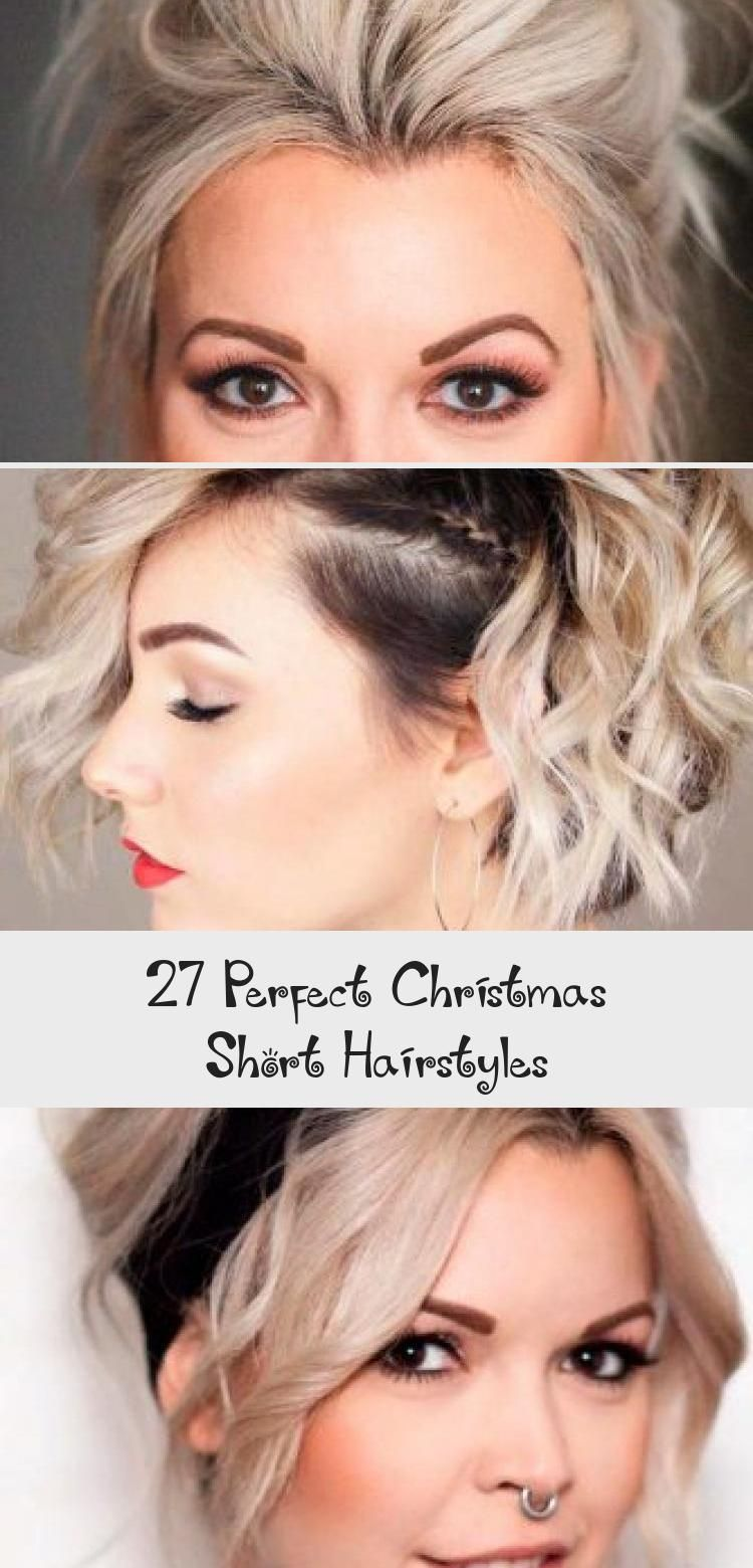 27 Perfect Christmas Short Hairstyles | Short hair styles easy, Short wedding hair, Low ponytail ...