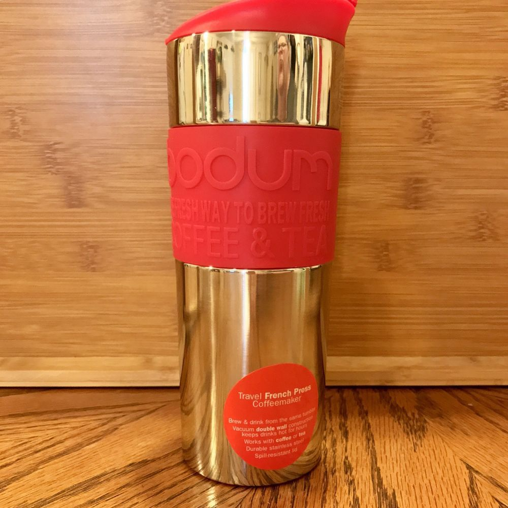 Bodum insulated stainlesssteel travel french press coffee