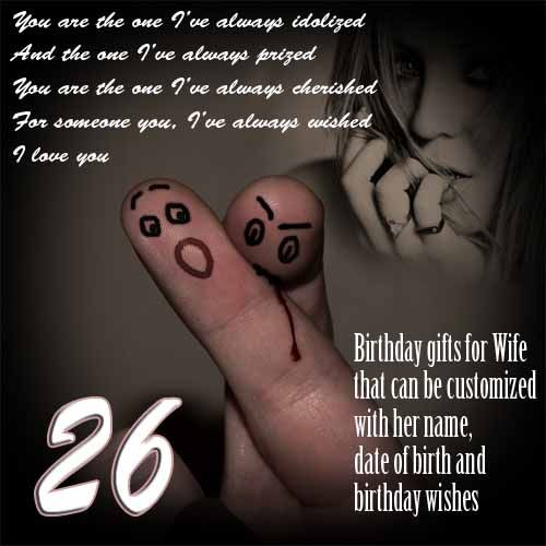 DIY 26th Birthday Gift Ideas For Wife Surprise Ecard Womens B Day