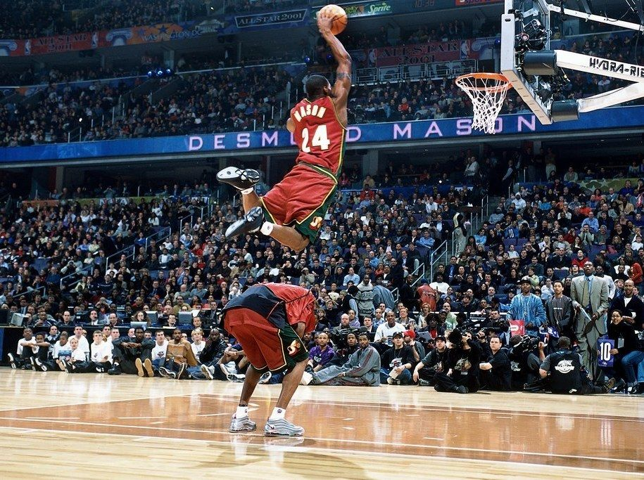 The Most Epic Nba Dunk Contest Photos Ever Taken Nba Pictures Slam Dunk Basket Sport