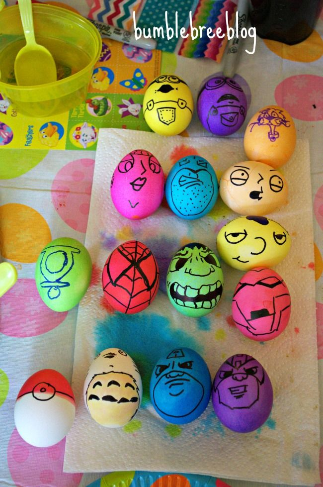 Easter Party Ideas Use Sharpies To Create Cool Eggs Is That Really The Hulk