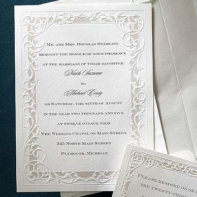 Simple but Elegant Wedding Invitations Simple but Elegant by