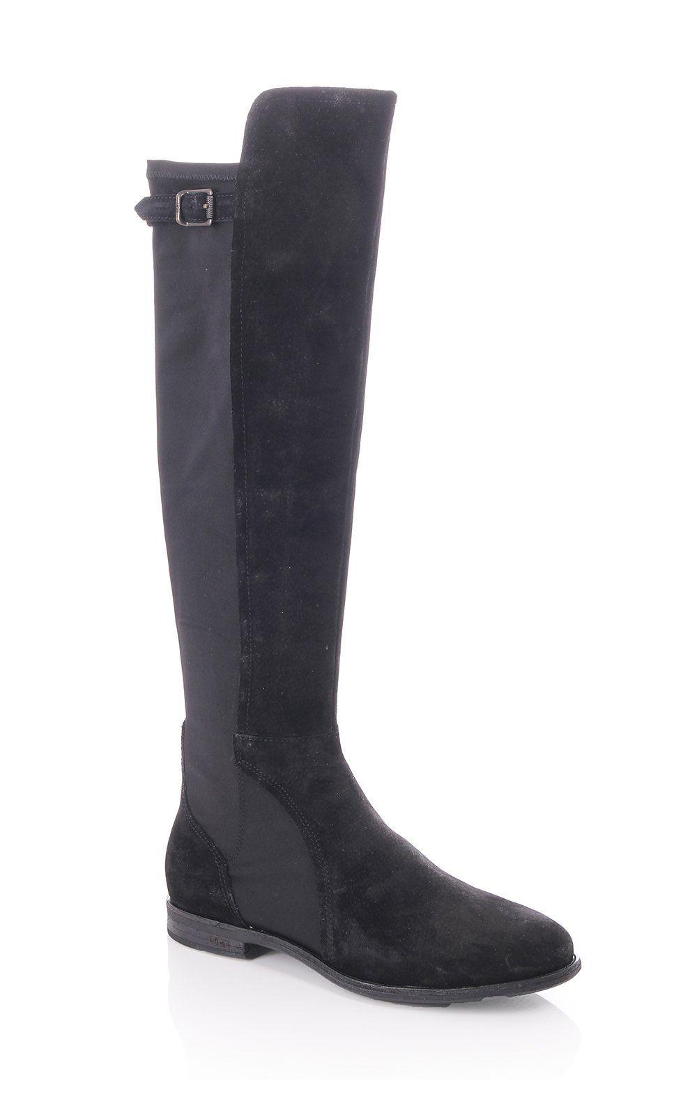 Ugg Australia Danae Stretch Knee High Suede Boot Black