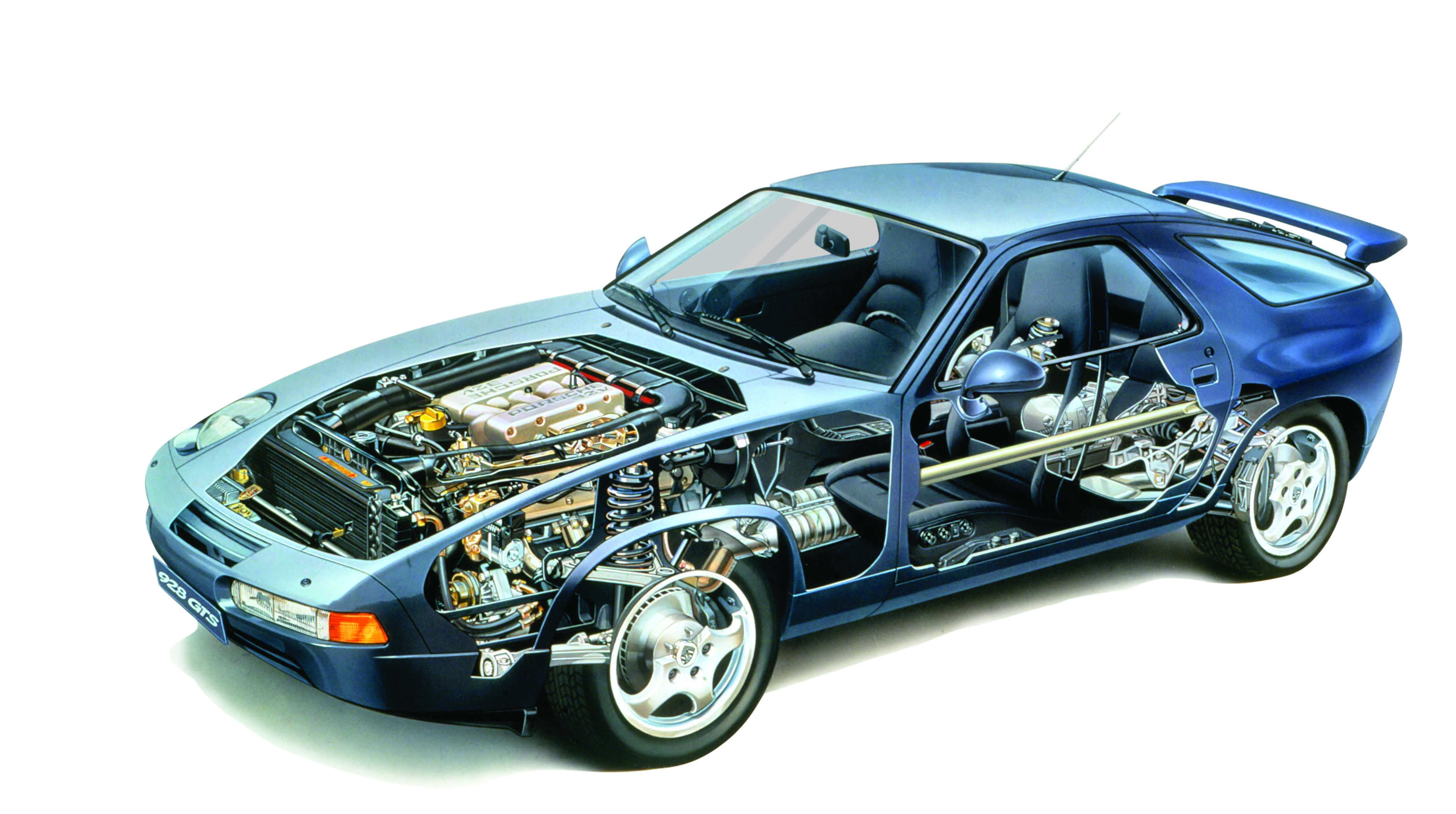 The 928 was a total break from the traditional rearengine Porsche – Lfa Engine Diagram