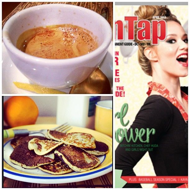 """A Day in the Life of @Jean Schindler: """"I do some freelance writing on the side - very excited to have written the cover story for OnTap Magazine this month (a profile of TV chef Nadia G), which hit new stands yesterday. I also write & photograph a weekly cooking column for @Cloture Club (banana pancakes, anyone?). But right now, it's time for a quick coffee to prep for a busy evening...."""""""