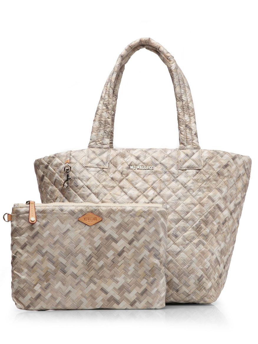 3bed27f2d50c04 MZ Wallace Small Metro Tote in Basket Weave Oxford