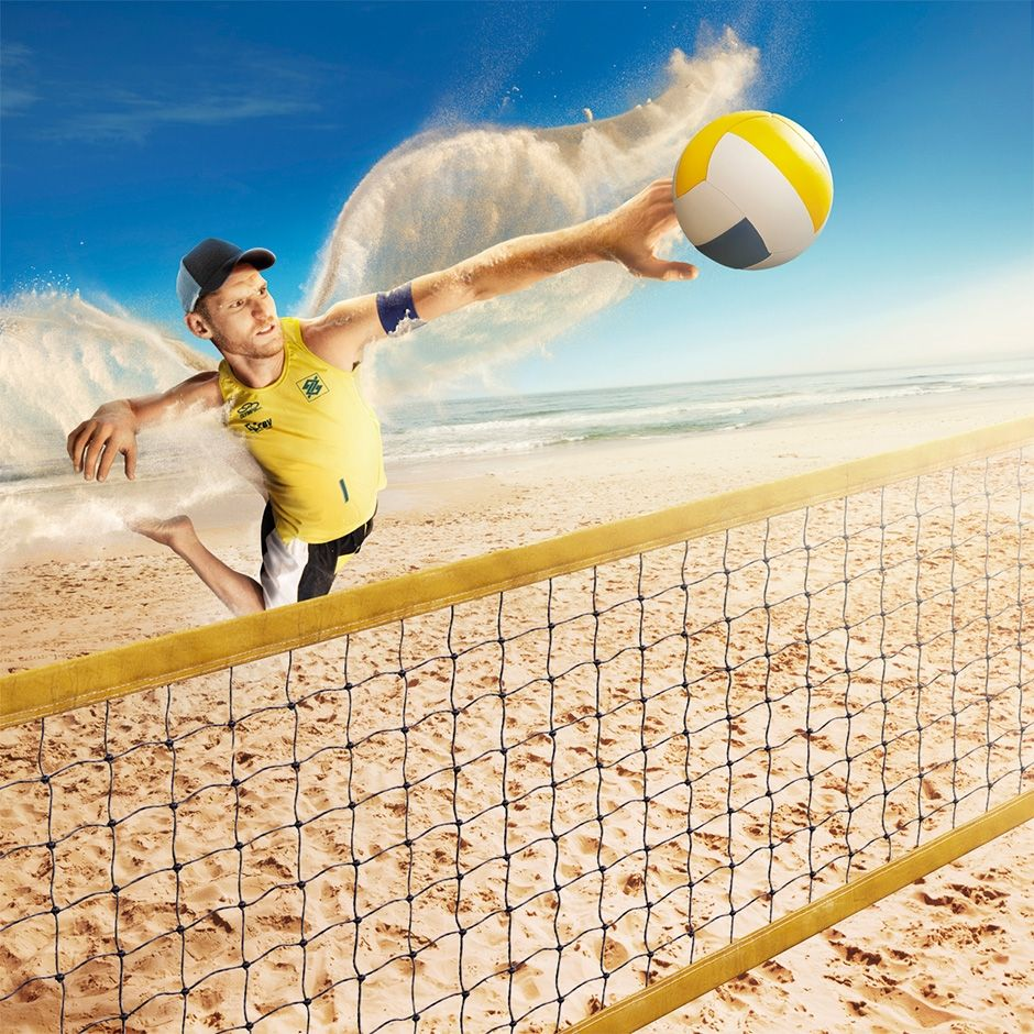 Gingerpic Circuito Bb Volei De Praia For This Campaign The Goal Was To Create Super Powers Fo Visual Effects Volleyball Photography Watercolor Illustration