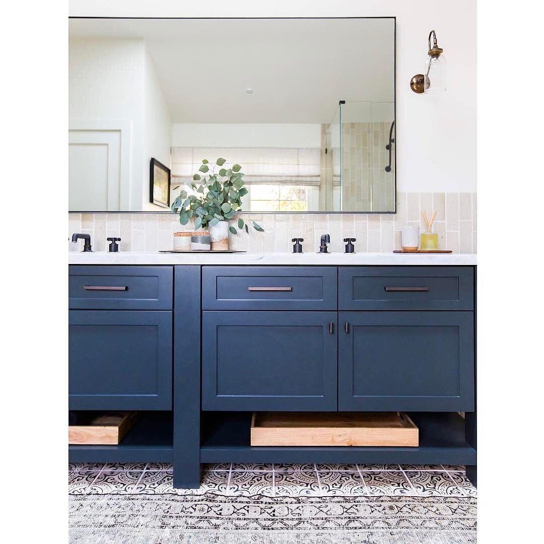 Cabinet Color - Dunn Edwards Black Pool DE6315 | Boys Bathroom ...