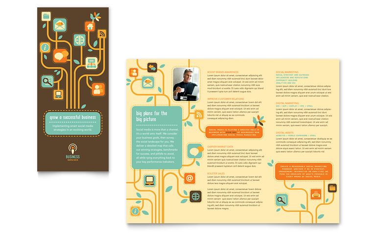 Business Services Tri Fold Brochure Template Design  Design
