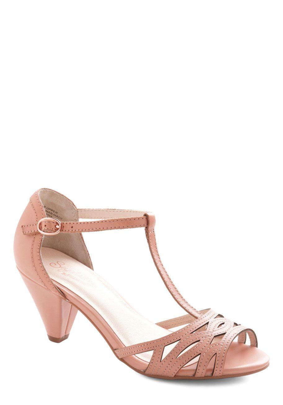 Low heel dress shoes for wedding  The Zest Is History Metallic Heel in Glittery Gold  Vintage heels