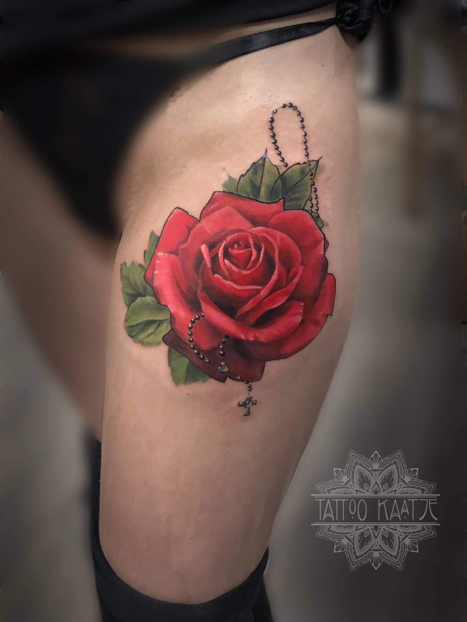 Rose Tattoo Roseary Realistic Red Rose Tattoo