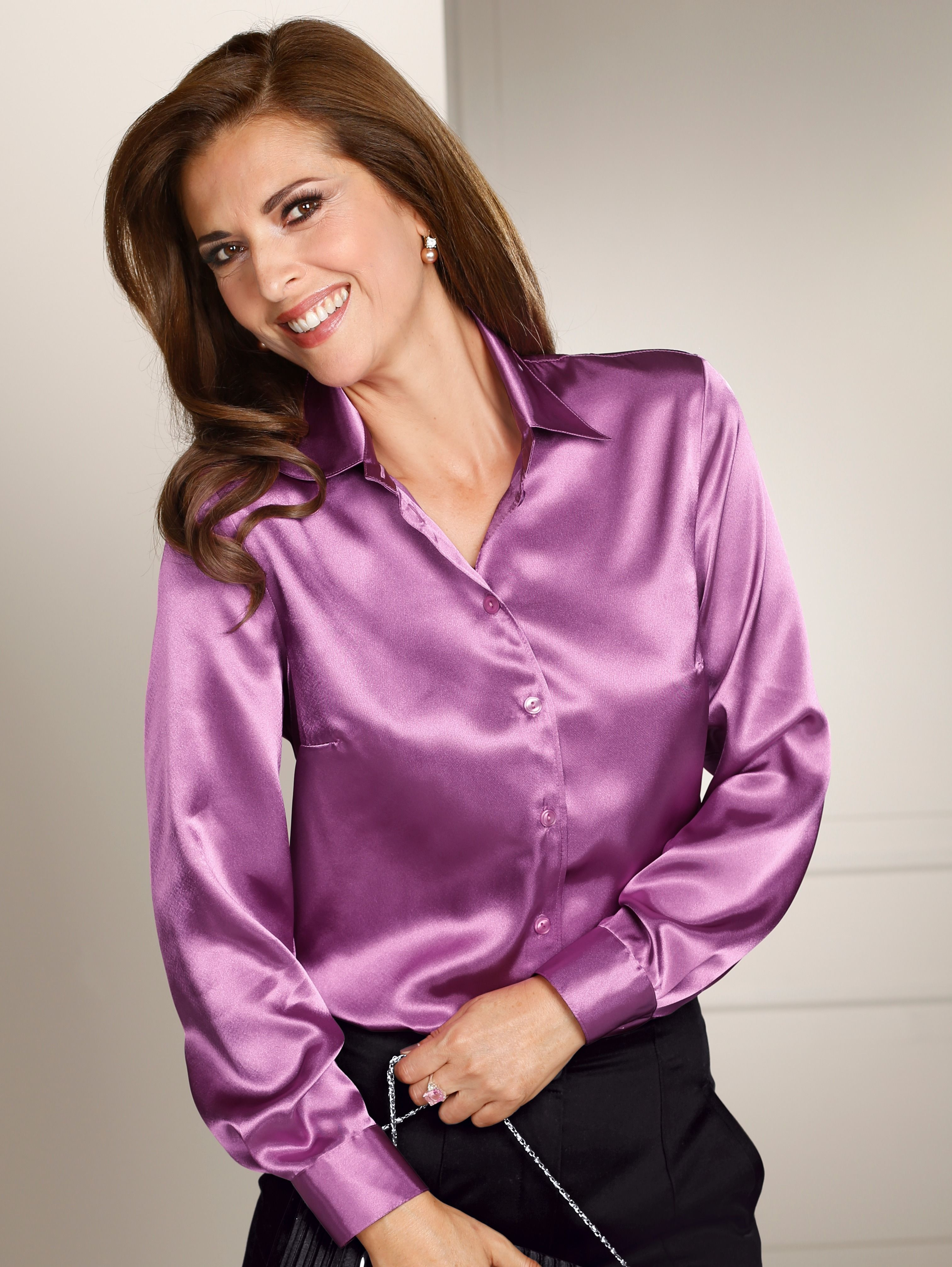 8ee052fdbac3b9 Pin on Satin blouses  sexy outfit