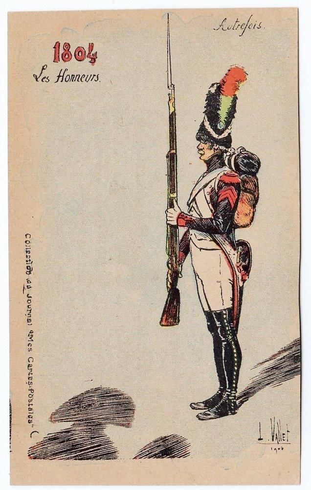 Early FRANCE French 1894 Les Honneurs L VALLET Military Postcard | eBay