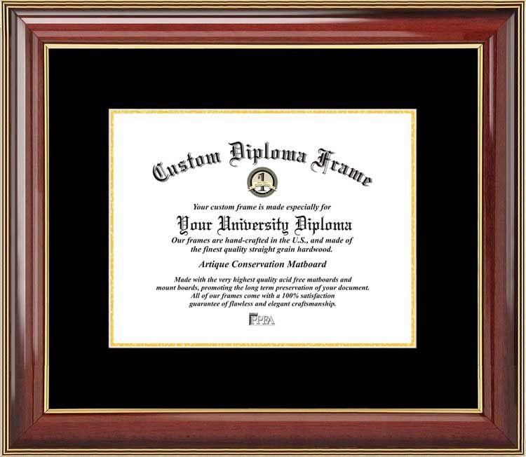 Plain Mat College & University Diploma Frame - Black-Gold Mats ...