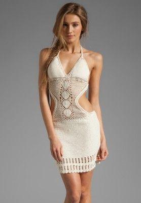 vestido de crochet para la playa de  Lisa Maree