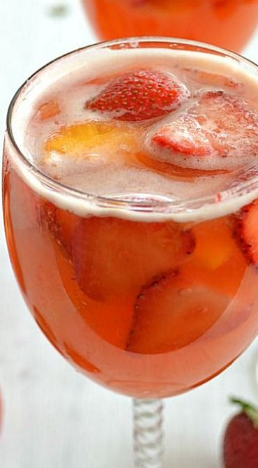 Image result for white sangria with strawberries and oranges