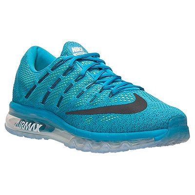 new arrival 9b608 30af0 Nike Air Max 2016 Mens 806771-400 Brave Blue Lagoon Mesh Running Shoes Size  11