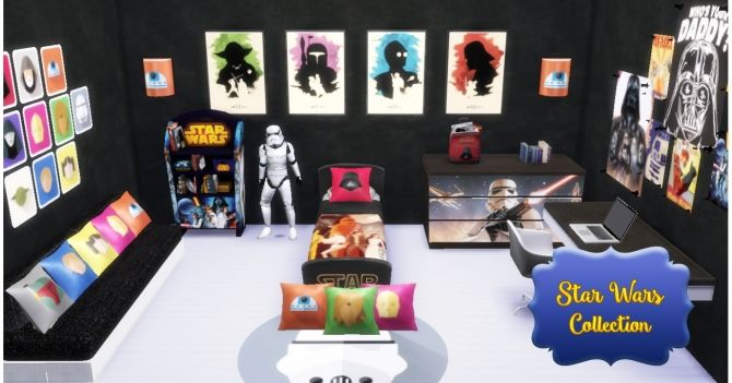 Star Wars Bedroom at Victor Miguel via Sims 4 Updates