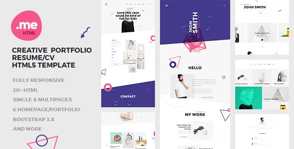 Me  Creative Portfolio  Resume  Cv Html Template  Https