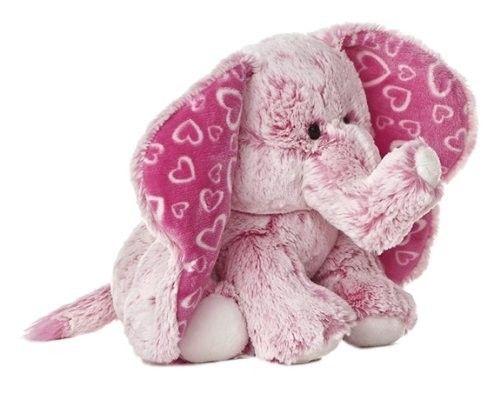 10 5 Aurora Plush Pink Elephant I Love You Big Time Stuffed