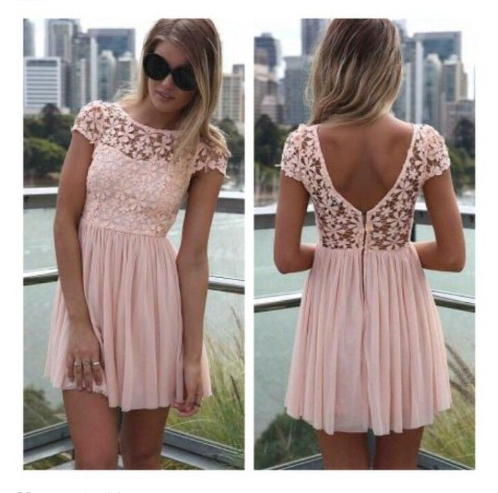 45b0b4b6f90 Light pink Lace summer dress