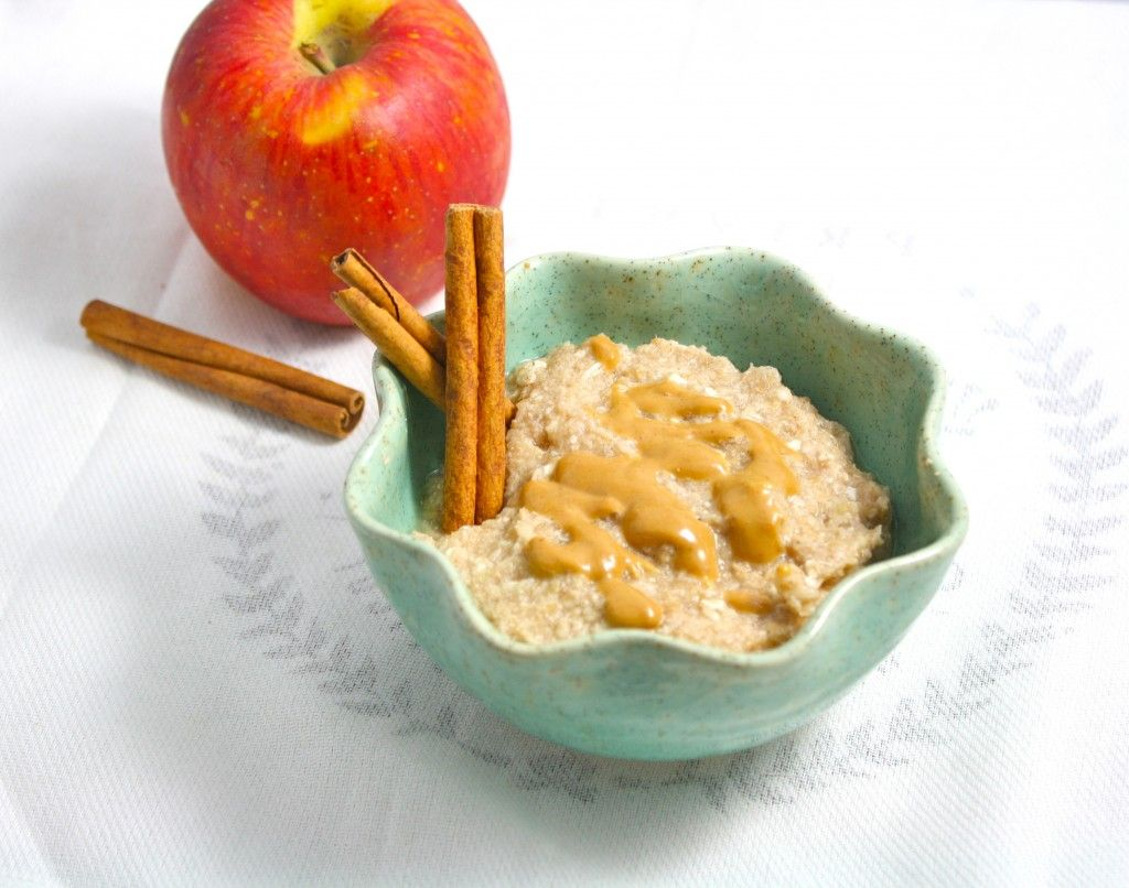 """Apple Cinnamon Coconut """"Oatmeal""""- low carb and only about 120 calories for the entire recipe!"""