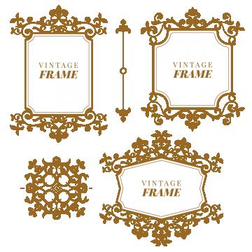 Floral Elements For Design Of Monograms Invitation Frame Floral Gold Png And Vector With Transparent Background For Free Download Monogram Invitation Wedding Invitation Ornament Floral Border Design