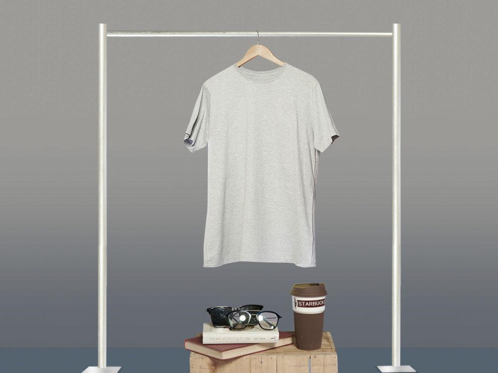 Download Free Grey Hanging T Shirt Mockup Free Mockup Fotografi Model Pakaian Model Pakaian Pakaian
