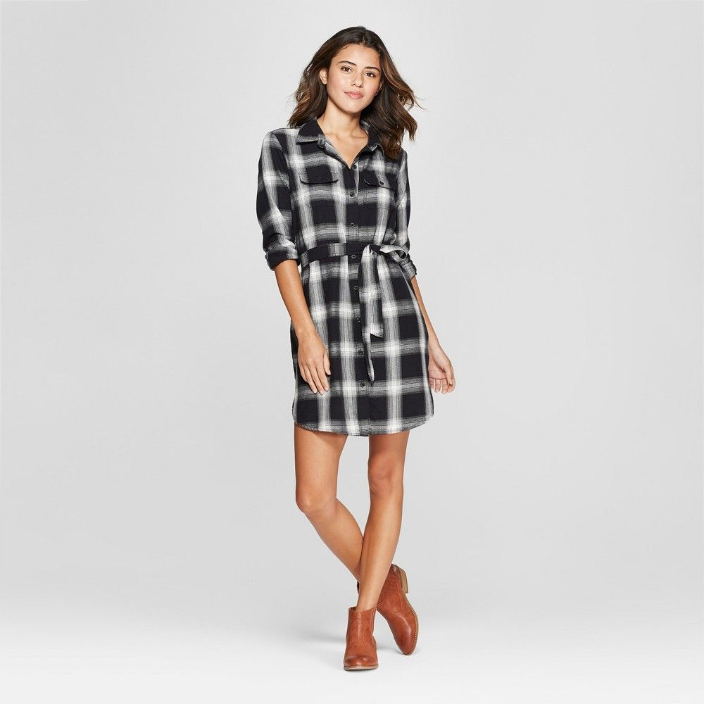 Women S Plaid Shirt Dress Universal Thread Black S Flannel Shirt Dress Target Clothes Plaid Dress Shirt [ 1000 x 1000 Pixel ]