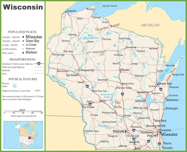 Wisconsin Highway Map Maps Pinterest Highway Map And Wisconsin