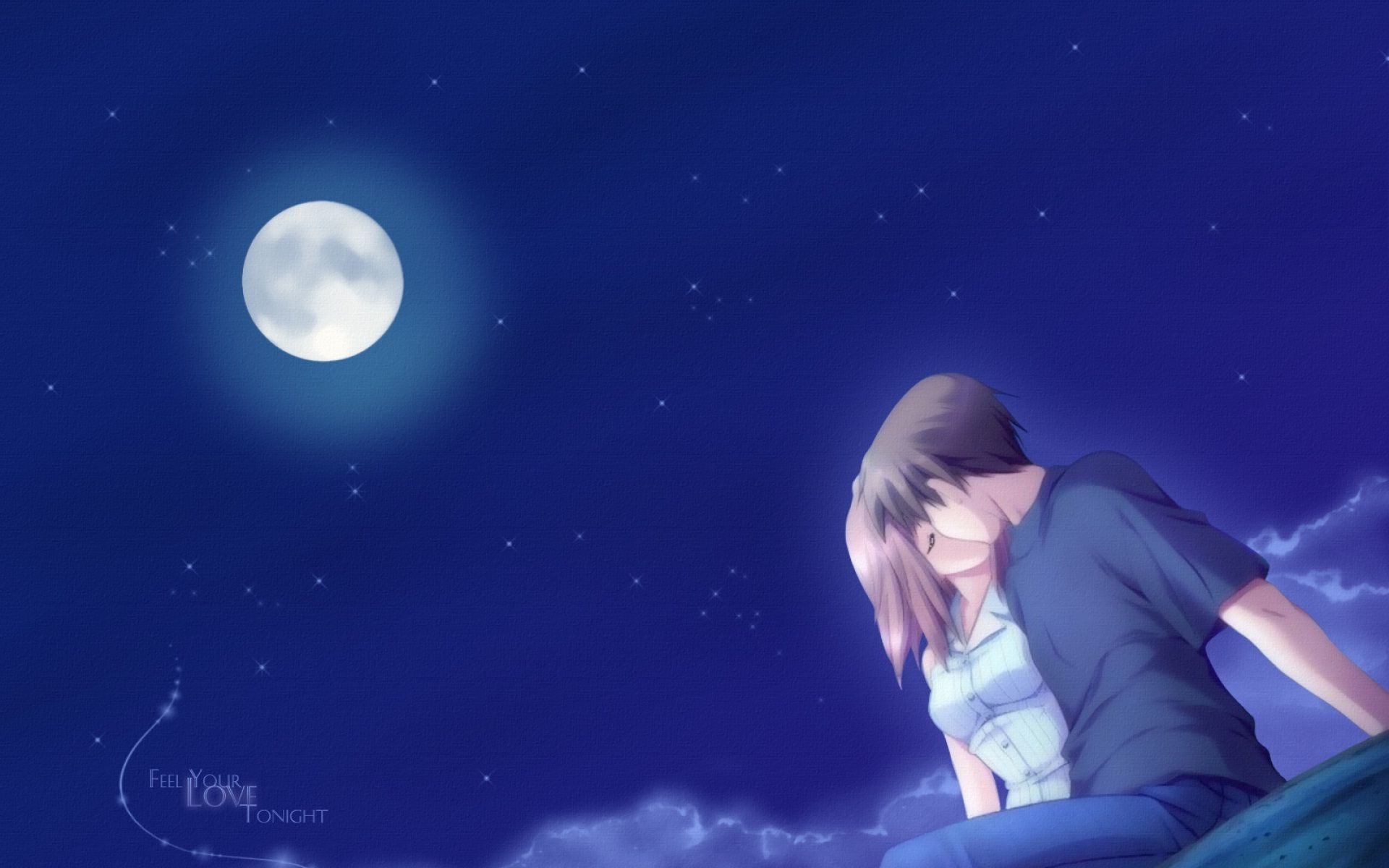 Lovely Good Night Romantic Couple Kisses Anime Love Hd Anime Wallpapers Anime Wallpaper