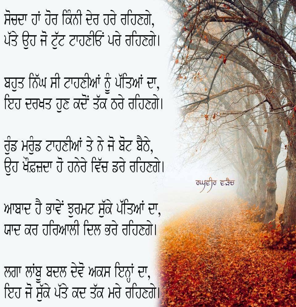 Punjabi Poetry   Raghbir's Poetry   Punjabi poetry, Poetry