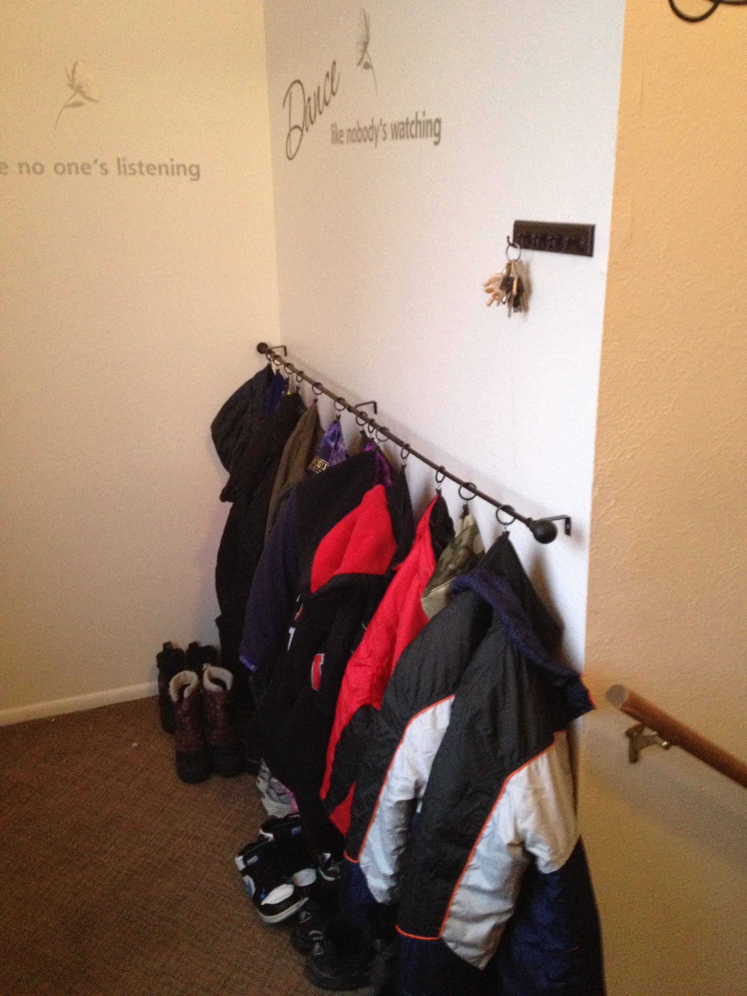 Create A Coat Hanger For Under 15 Curtain Rod From Tj Maxx 6 39