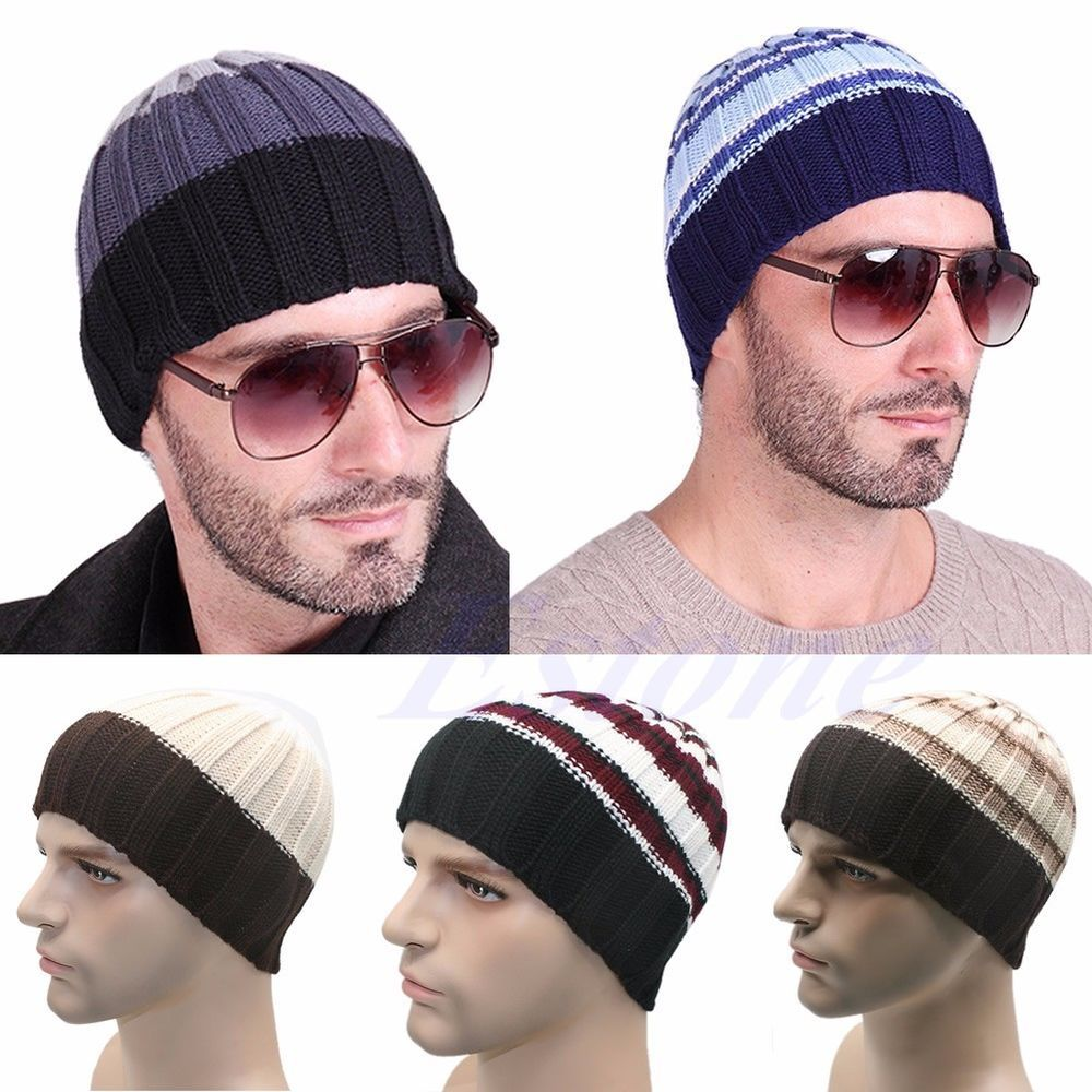 cbf1872a0e5 Fashion Women s Men s Hat Unisex Warm Winter Knit Cap Hip-hop Beanie Hats  Black  Unbranded  Ski