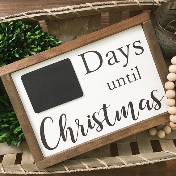 Countdown To Christmas Sign.Pin On Products