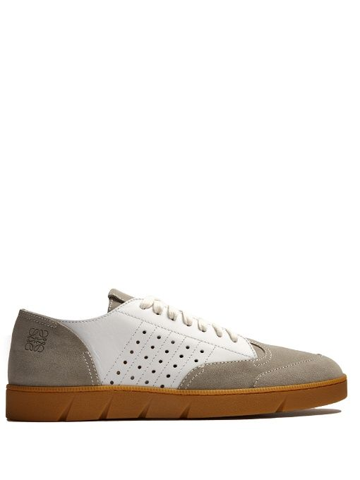 For Sale Cheap Authentic Free Shipping For Sale Tan Leather Sneakers Loewe QbVjRM4Ev9