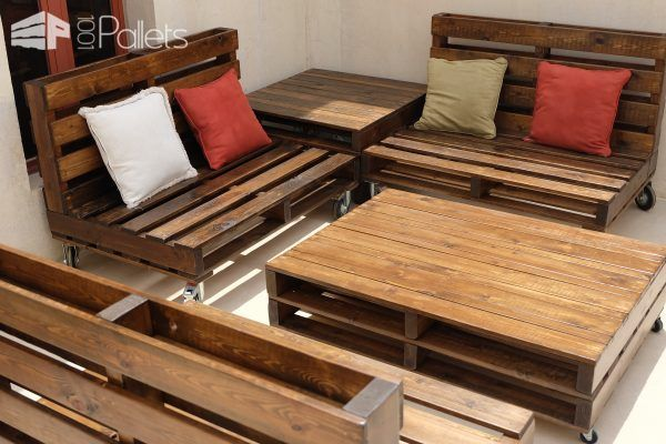 Mobili Pallet ~ Mobile pallet lounge set creates beautiful outdoor living pallet