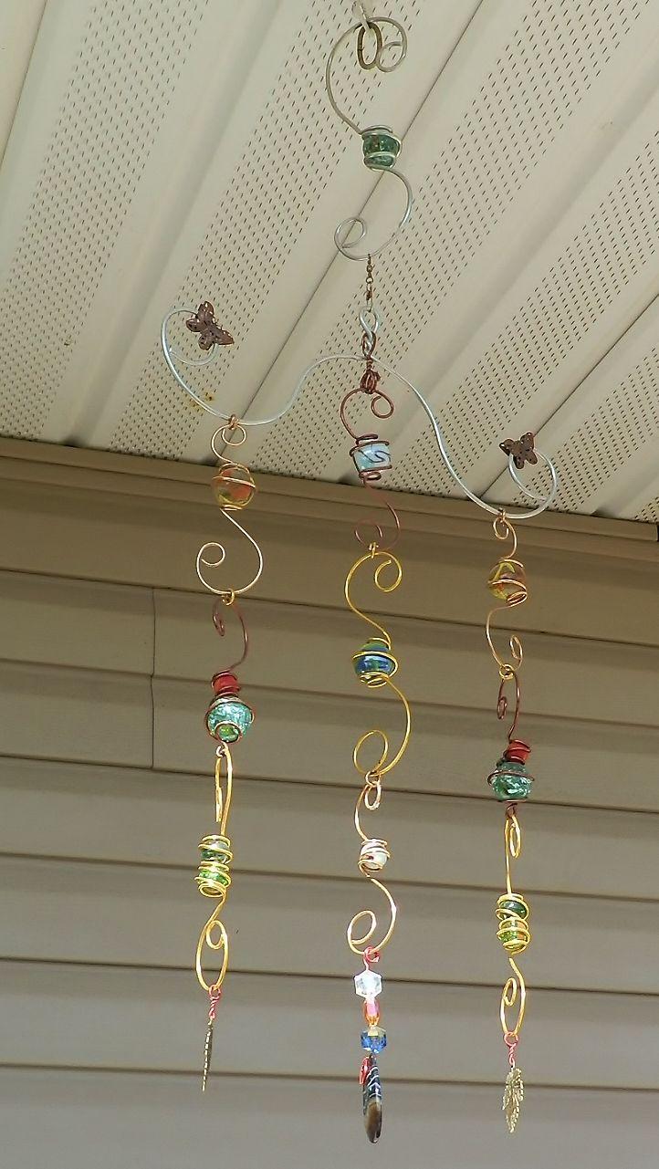 Wind Chime Sun Catcher Window Charm Wire Wrapped