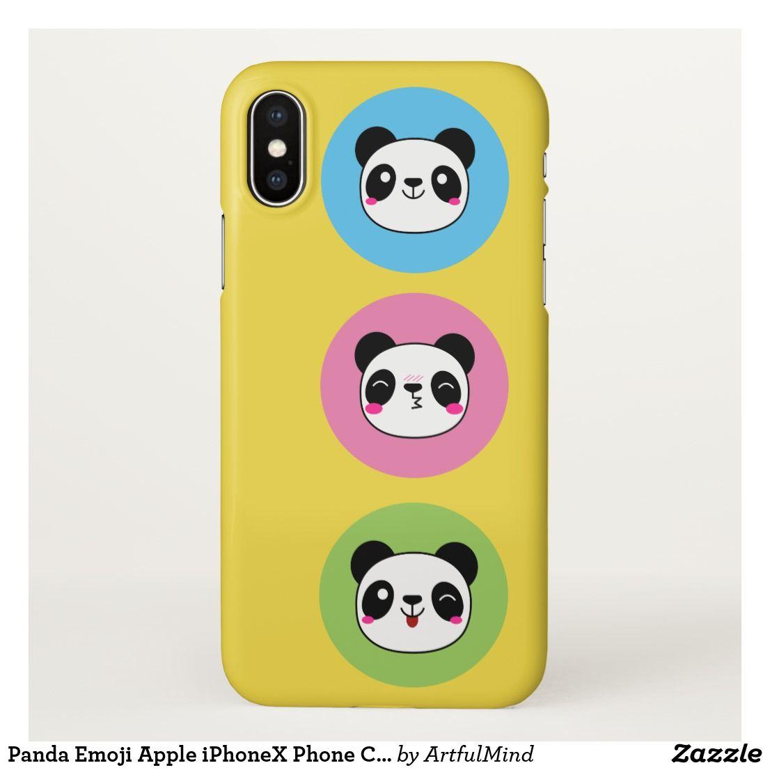 Panda Emoji Apple iPhoneX Phone Case Iphone