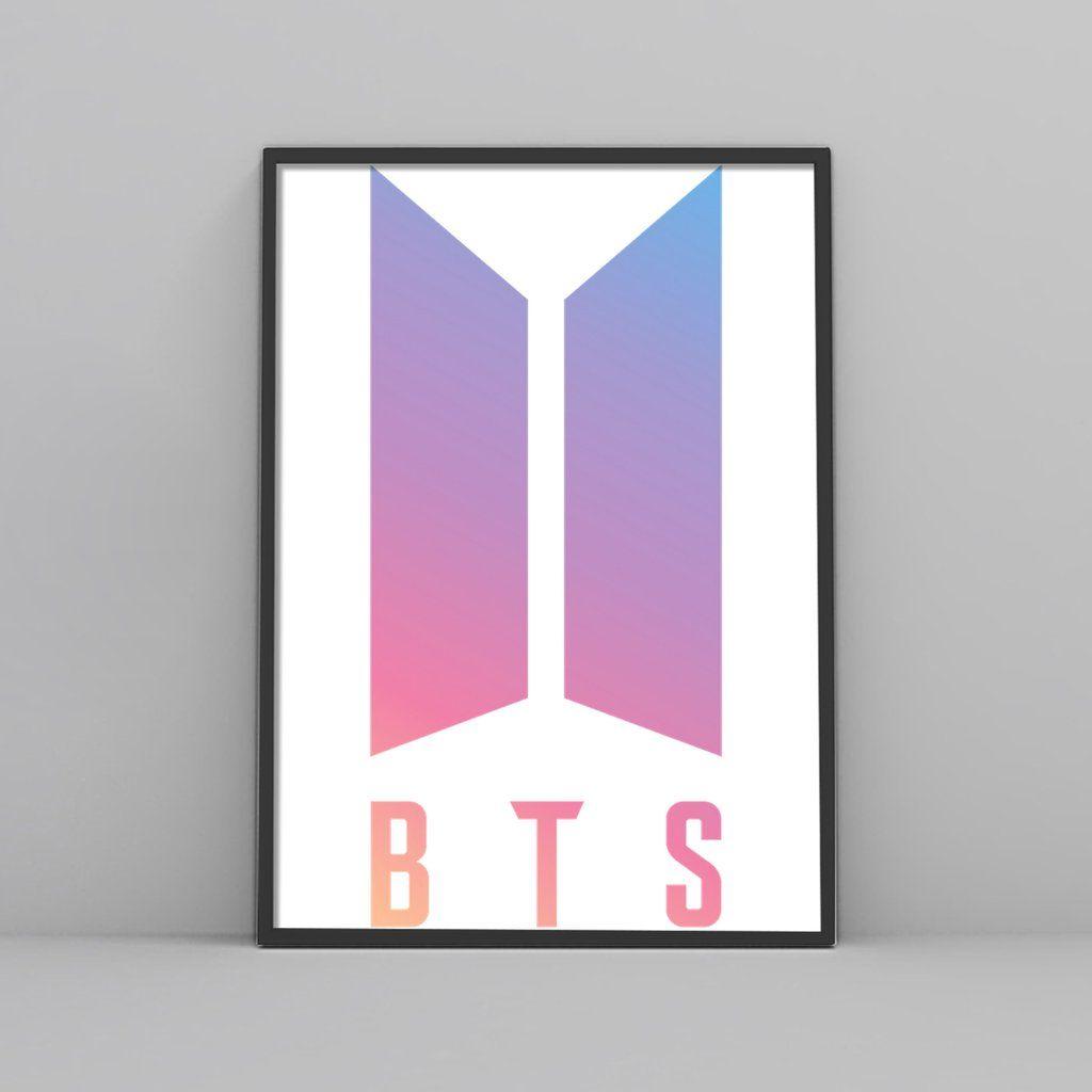 Bts Purple Logo Poster In 2021 Purple Logo Words Wallpaper Instagram Wallpaper
