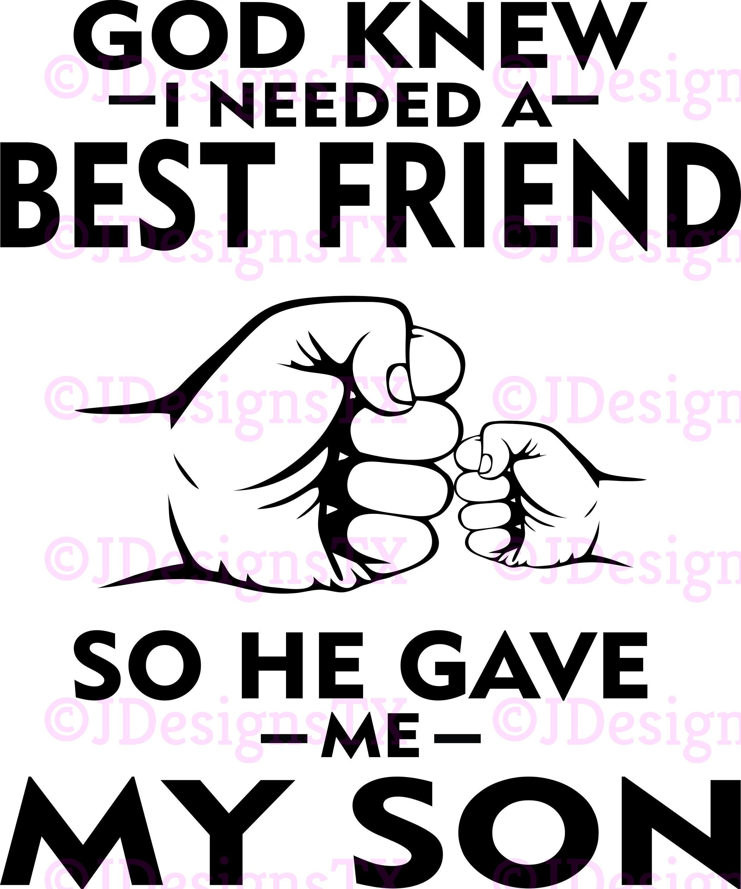 Download Father/Son Best Friend SVG   Father, son, Best friends, Sons