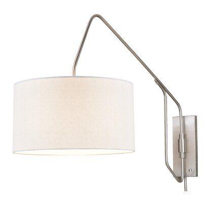 Brayden Studio Danika 1 Light Swing Arm Wayfair In 2020 Swing Arm Wall Lamps Wall Sconce Lighting Swing Arm Lamp
