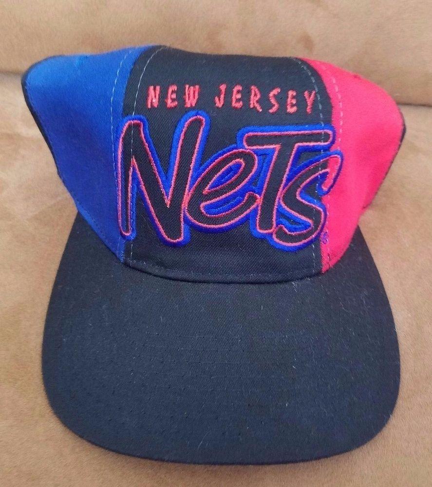 New Jersey Nets Snapback Hat STARTER NBA Basketball Vintage 90s Cap   Starter  NewJerseyNets c1303aaeee1