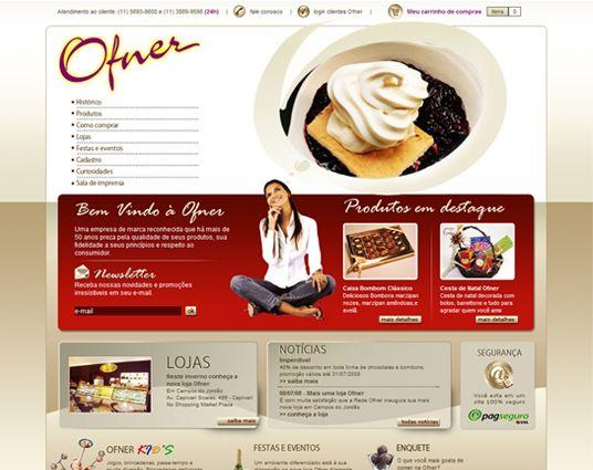 Ofner | criação de site da Ofner Doceria online | website
