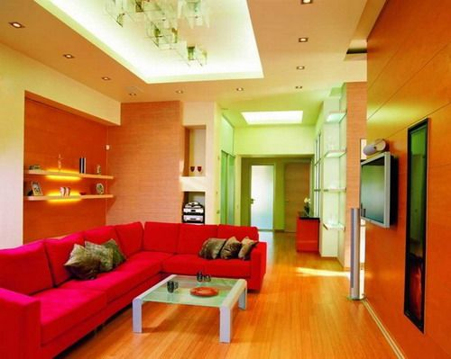 living room color schemes colorful interior living room color scheme with red sofa - Interior Design Living Room Color Scheme