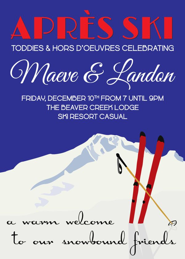 Apres Ski Party Invitation on Behance Aprs ski Pinterest