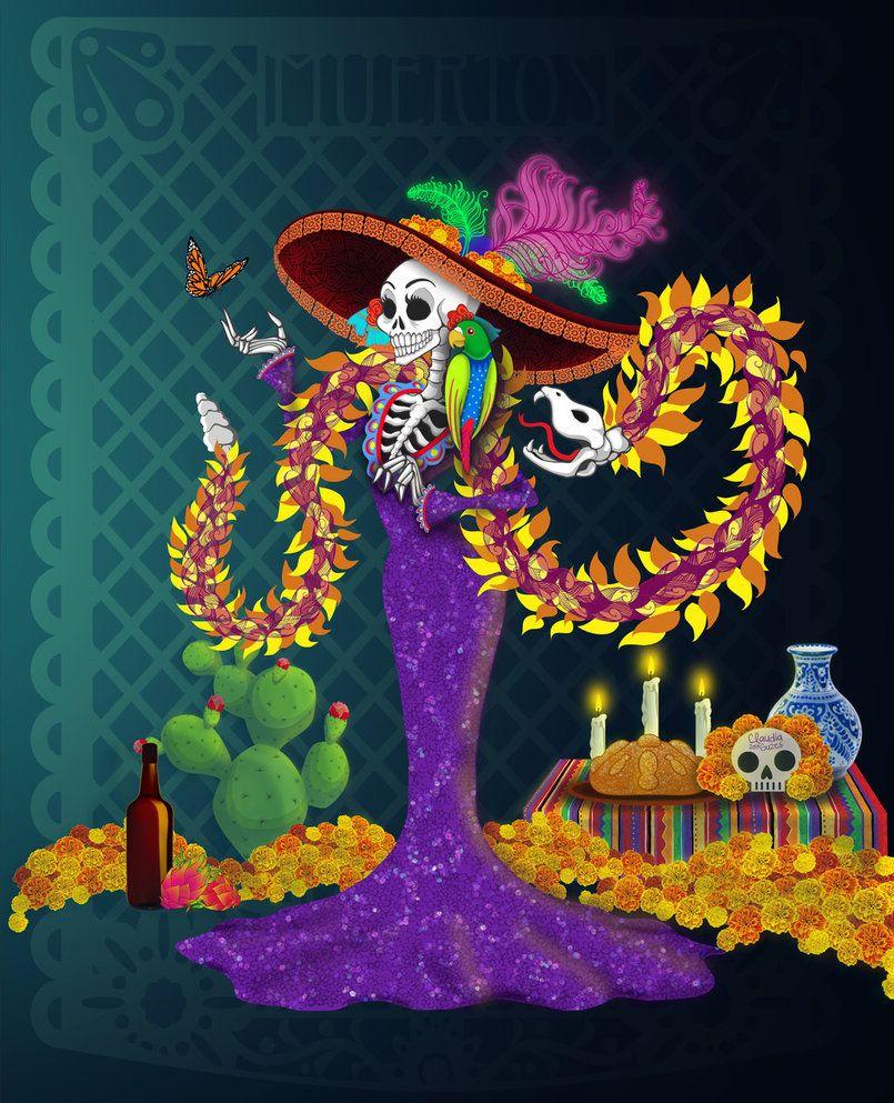 Catrina mexicana wallpaper buscar con google dia de muertos