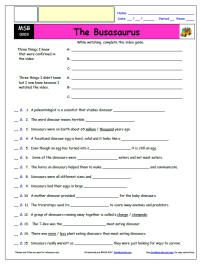 FREE Differentiated Worksheet for the Magic School Bus ...