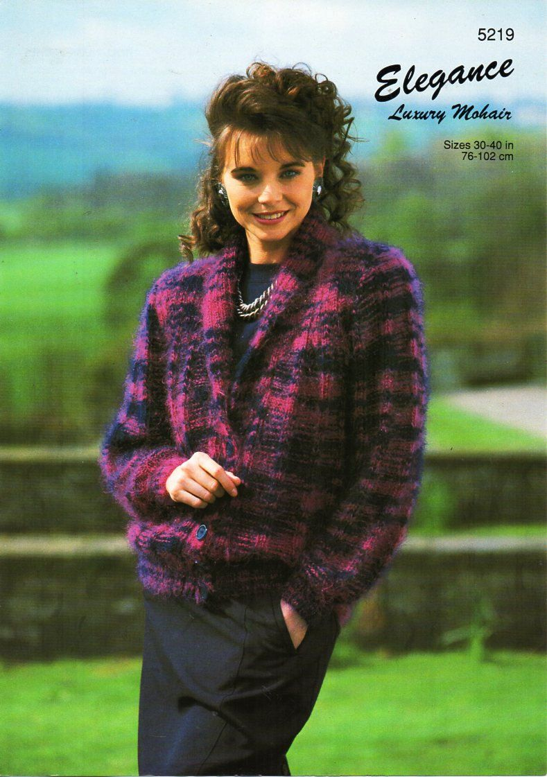 Vintage womens mohair roll neck jacket knitting pattern pdf 10ply ...
