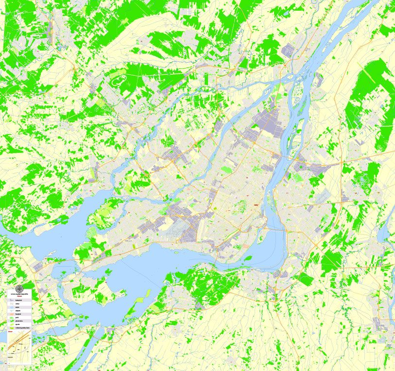 Edmonton Printable Map, Canada, exact Map City Plan Level